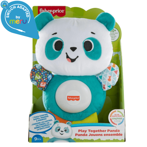 box view of a Switch adapted Fisher-Price Linkimals Play Together Panda