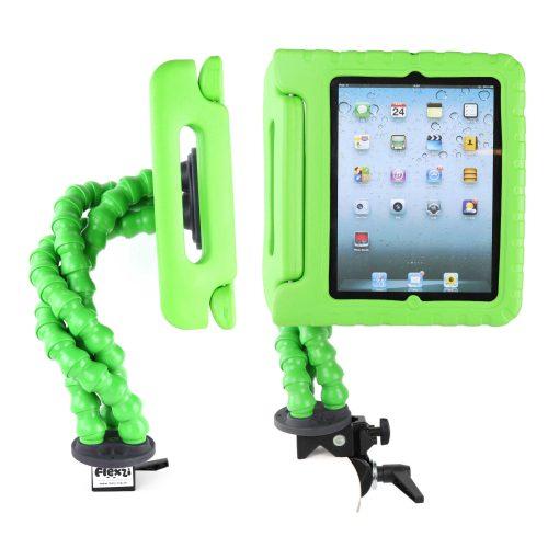 Green Flexzi 3 with ipad case multi view