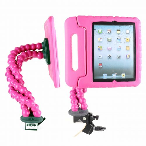 Pink Flexzi 3 with ipad holder and case multi view